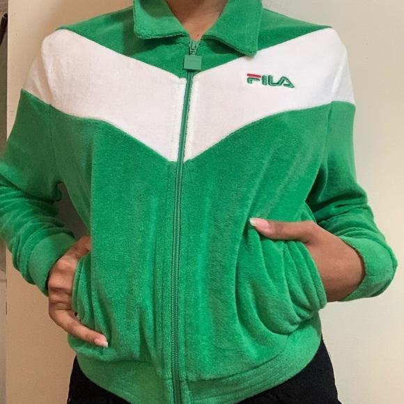 FILA zip up sweatshirt